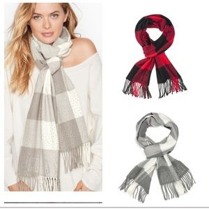 Set of Victoria Secret Plaid Scarves